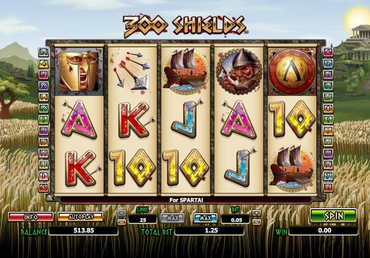 Игровой автомат «300 Shields» от Spin City казино