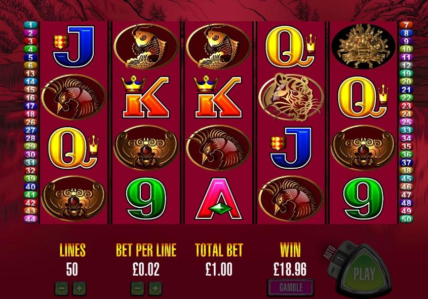 Игровые автоматы «50 Dragons» от казино Спин Сити
