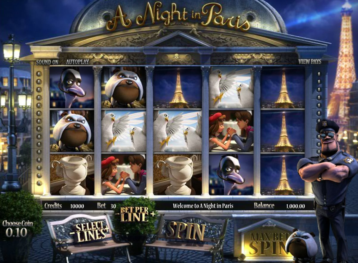 Игровые слоты «A Night in Paris» в казино Рокс