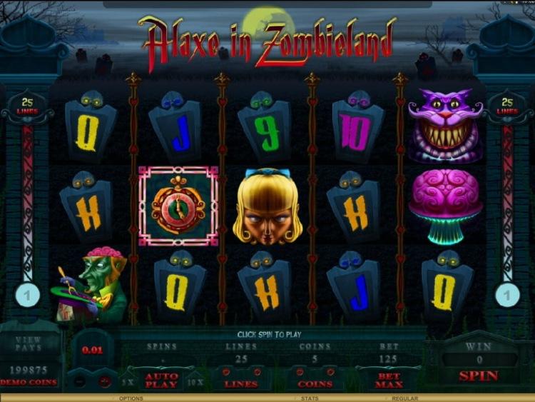 Игровые автоматы без вложений «Alaxe In Zombieland»