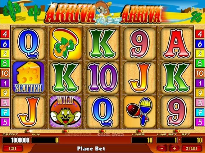 Игровые автоматы «Arriva» в казино Вулкан