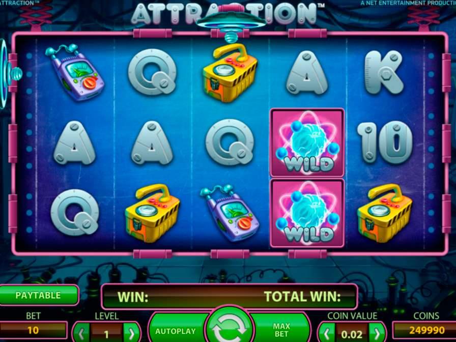 Игровые автоматы «Attraction» в онлайн казино ВулканБет (VulkanBet)