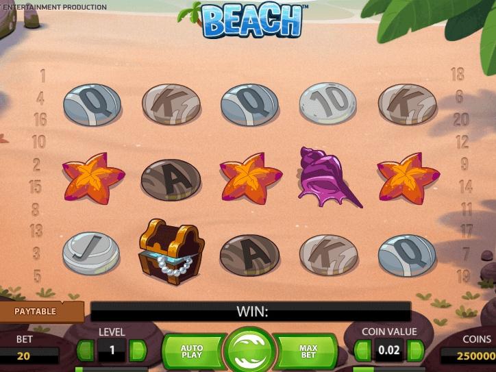 Приятное времяпрепровождение на игровом слоте «Beach» от казино Плей Дом