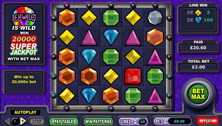 Игровой автомат «Bejeweled» в казино Адмирал