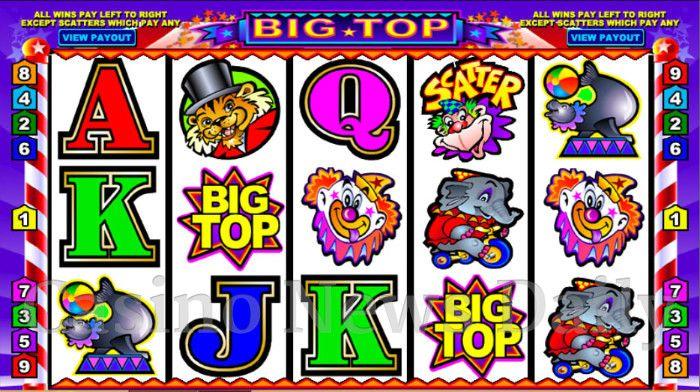 Игровые автоматы онлайн «Big Top»