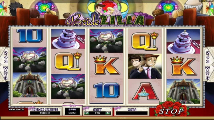 Игровой автомат «BrideZilla» в казино Вулкан