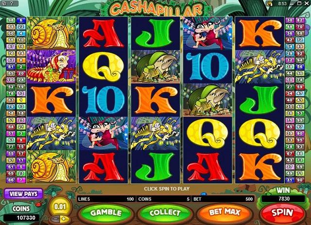 Онлайн эмуляторы «Cashapillar» в JVSpin казино