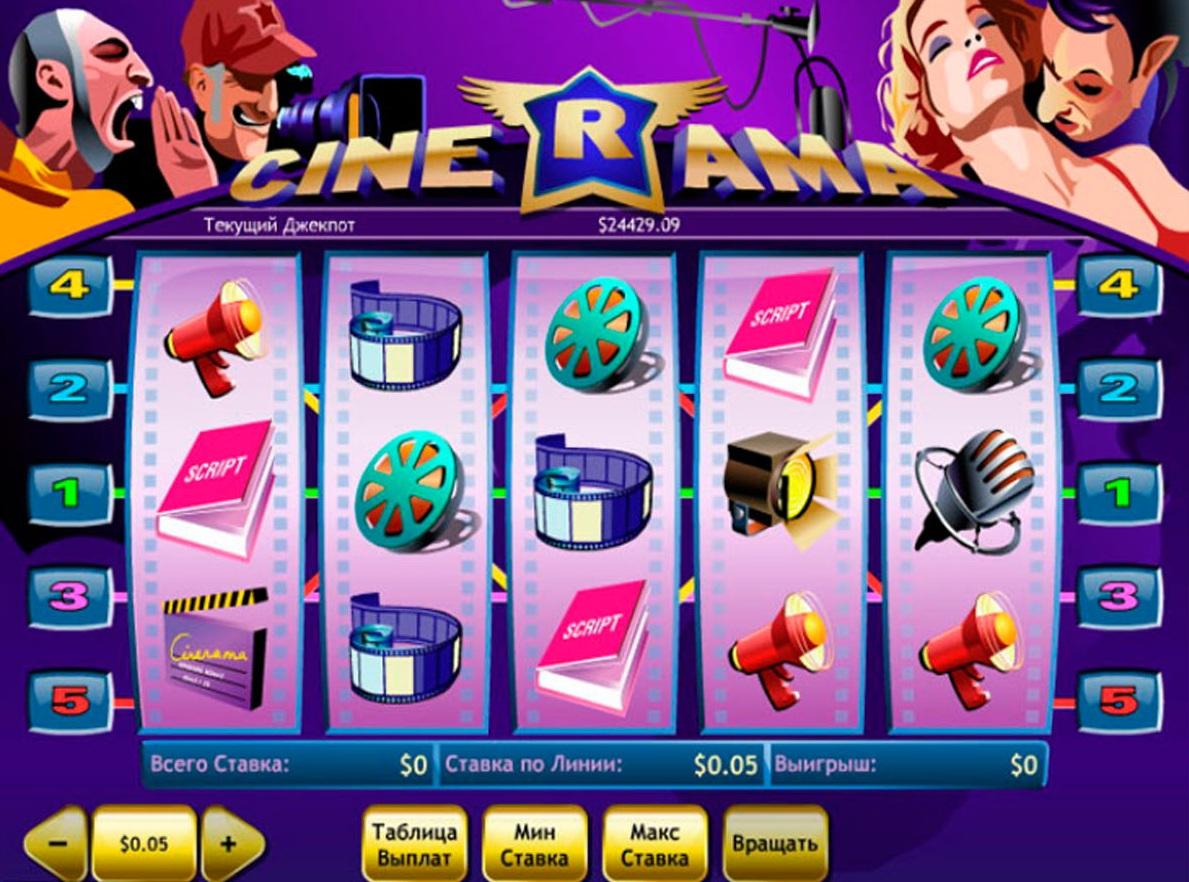 Мир кинематографа и увлекательные онлайн слоты «Cinerama» в Рокс казино