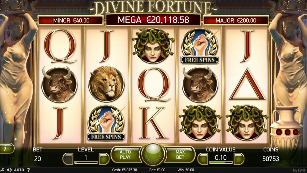 Вулкан игровые слоты «Divine Fortune»