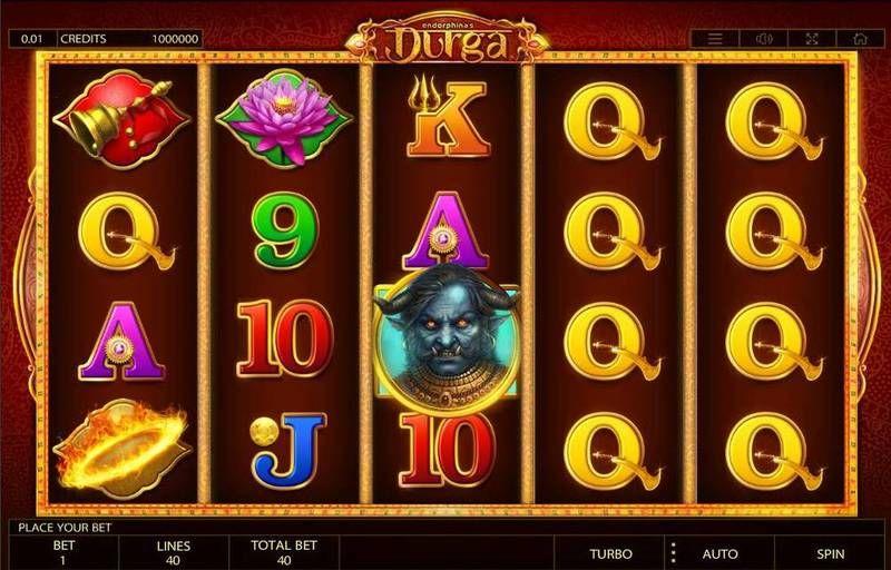 Игровой автомат «Durga» на зеркале казино Фараон