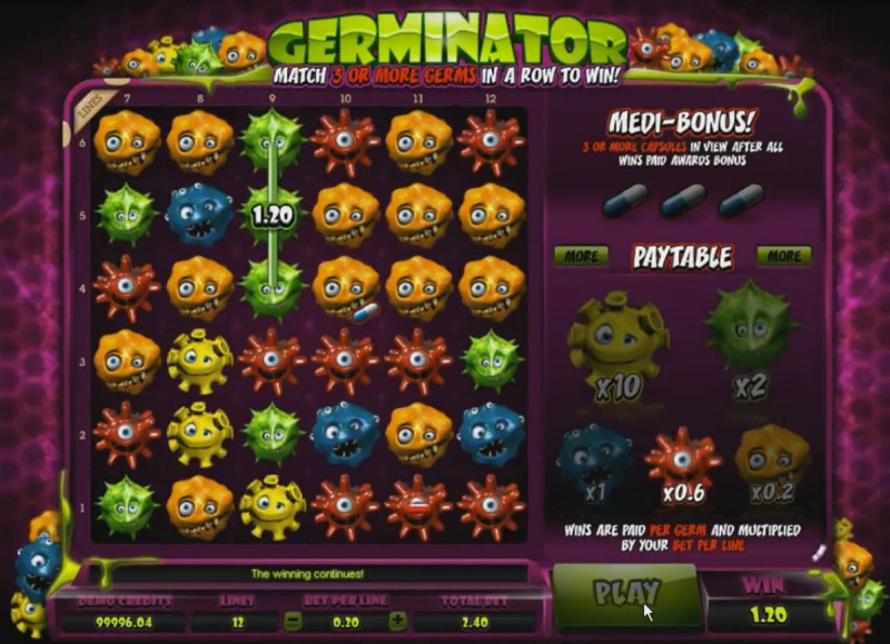 Описание слота «Germinator» в казино Joycasino