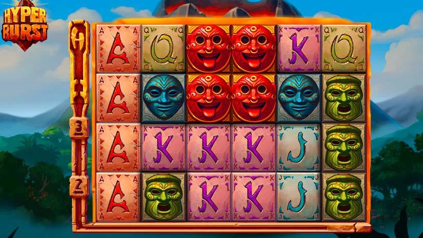 Вулканическая атмосфера на игровом слоте «Hyperburs» на зеркале официального сайта Фреш казино