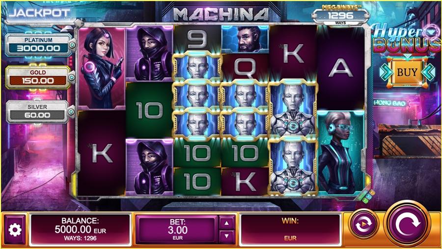 «Machina» — слот про будущее на сайте казино Фреш