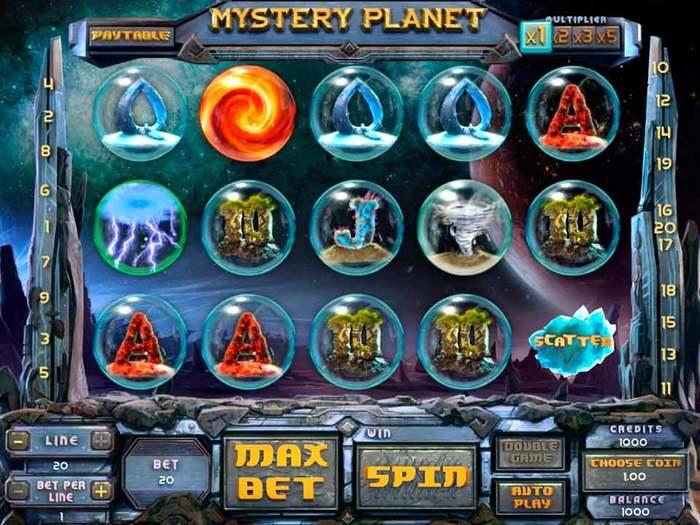 Играть бесплатно в автоматы «Mystery Planet» в онлайн казино