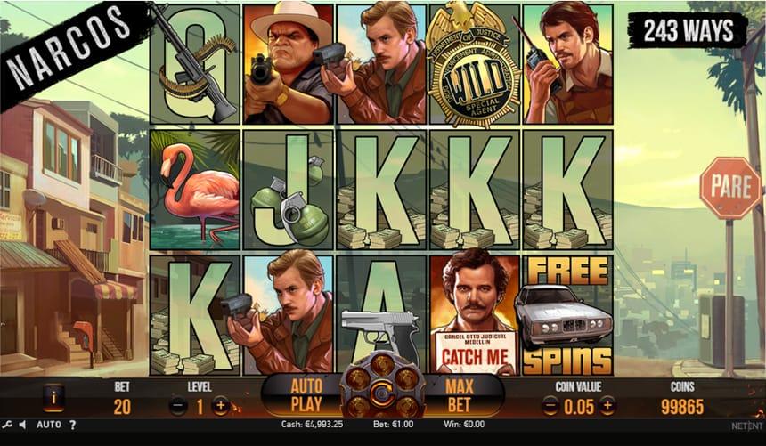«Narcos» — игровой автомат в онлайн казино Плей Фортуна