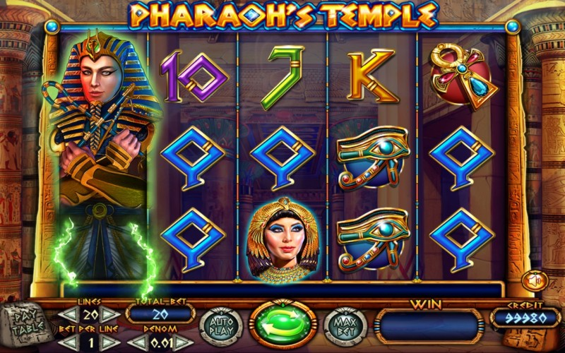 Игровой автомат «Pharaoh's Temple» в Casino Champion