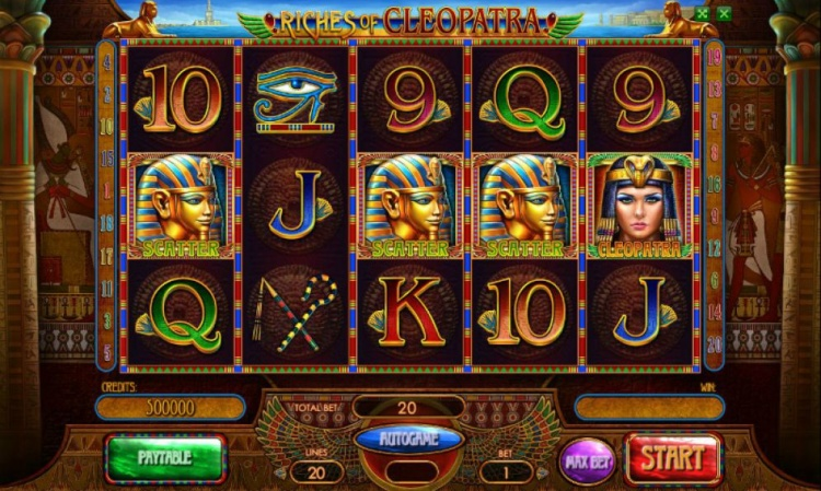 Автоматы «Riches of Cleopatra» в казино на деньги GMSlots