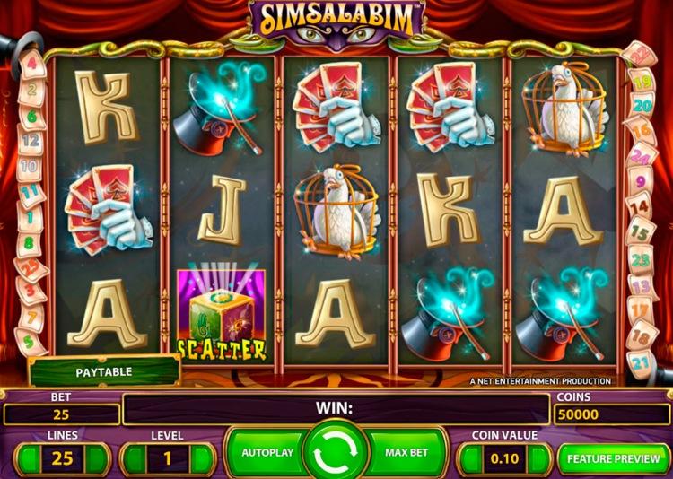 Игровой автомат «SimSalabim» в Vulkan Club