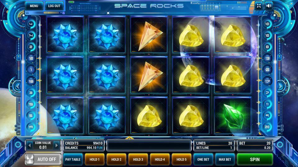 Игровой автомат «Space Rocks 2» в казино Вулкан онлайн