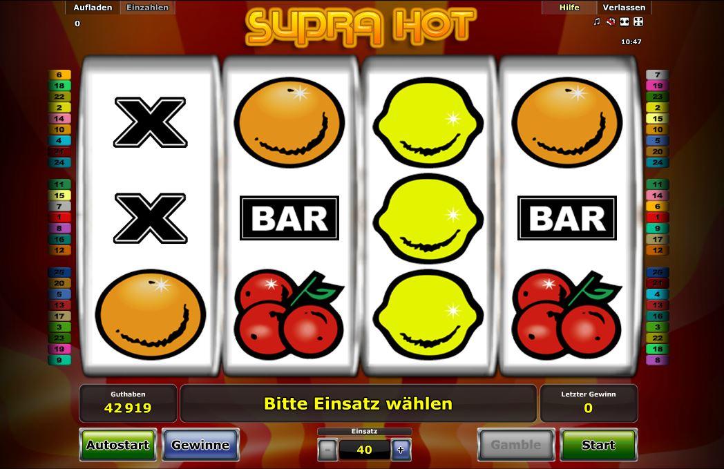Игровые автоматы «Supra Hot» от казино Император