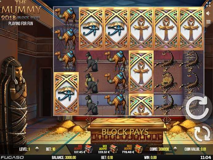 Аппарат «The Mummy 2018» на официальном сайте казино Император