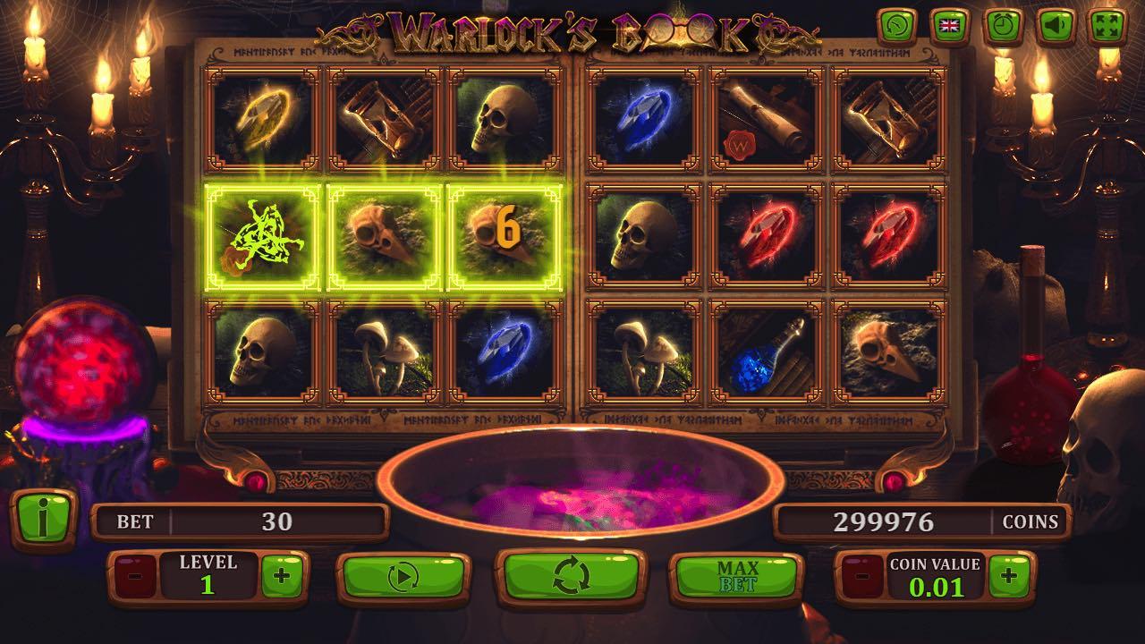 Бонусы от Азино777 для игры на аппарате «Warlock's Book»