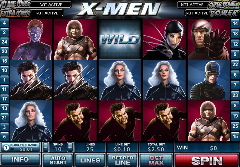 Описание слота «X-men» в Вулкан казино