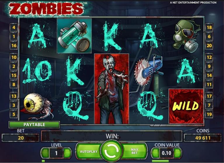 Аппараты «Zombies» на сайте онлан казино GMS Club