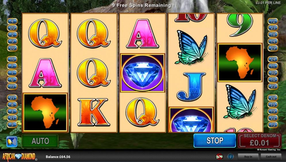Слоты «African Diamond» в казино онлайн Вулкан Делюкс