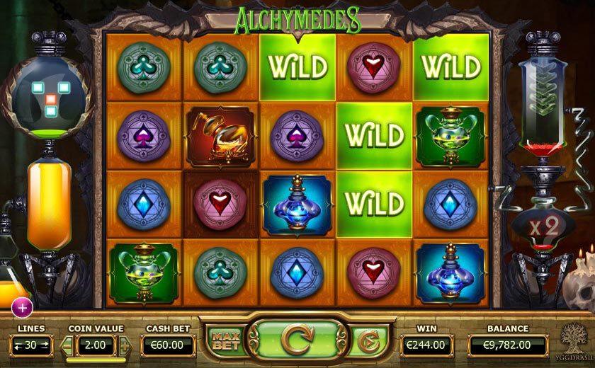 Игровой автомат «Alchymedes» в казино Фараон онлайн