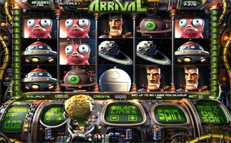 Игровой автомат «Arrival» в казино Вулкан Делюкс