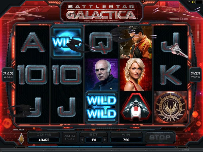 Игровой автомат «Battlestar Galactica» в клубе Азино Три Топора