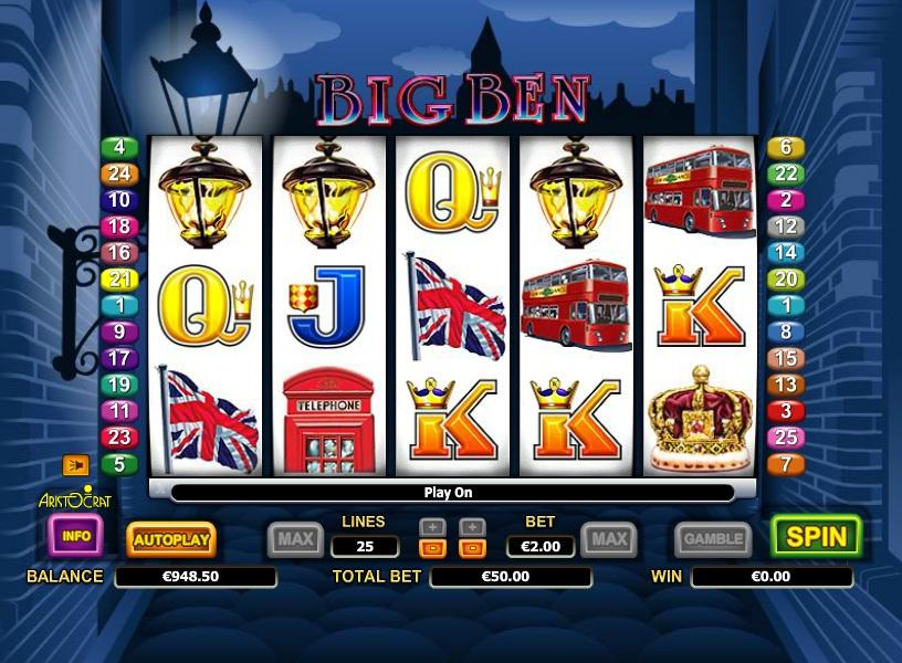 Игровой автомат «Big Ben» в казино Адмирал