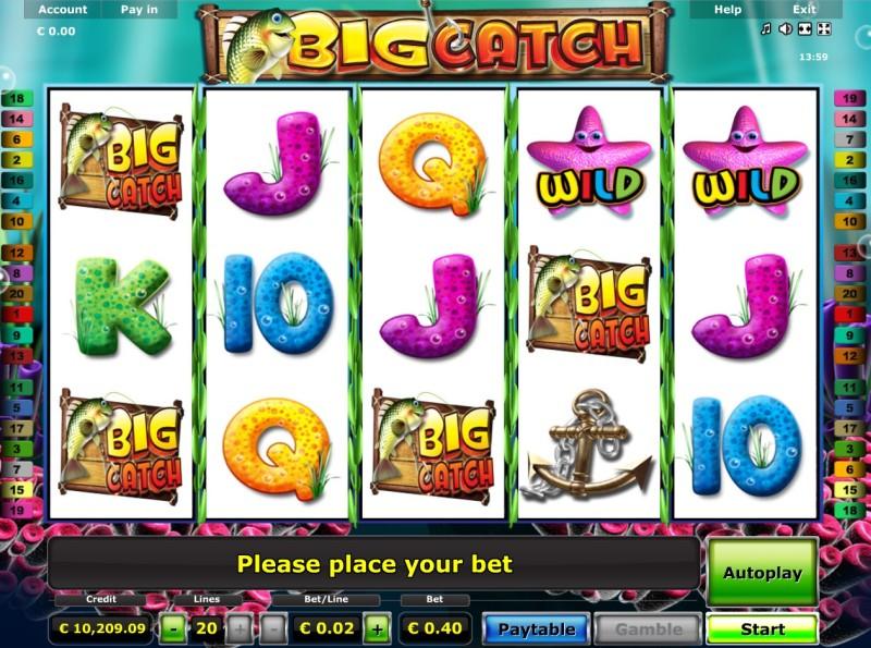 Игровые автоматы на деньг «Big Catch» в oнлайн казино Вулкан