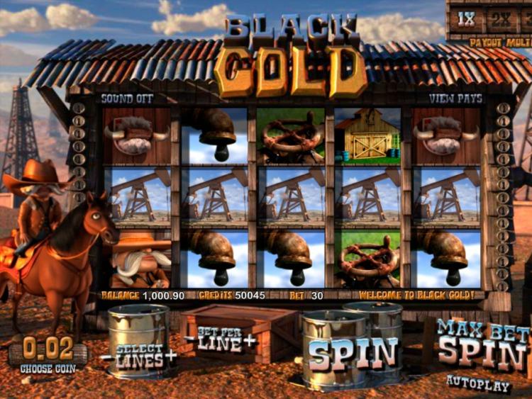 Описание слота «Black Gold» в казино Рокс