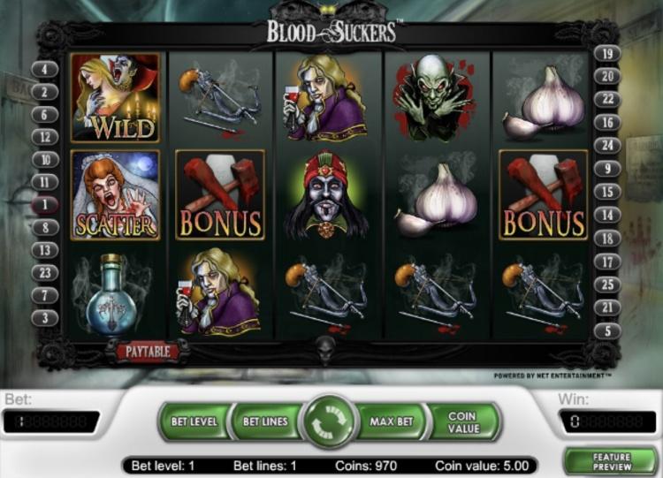 Играйте на слотах «Blood Suckers» на сайте казино Вавада онлайн