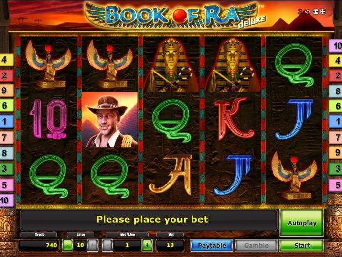 Сокровища фараонов и автомат «Book of Ra Deluxe» в казино Икс
