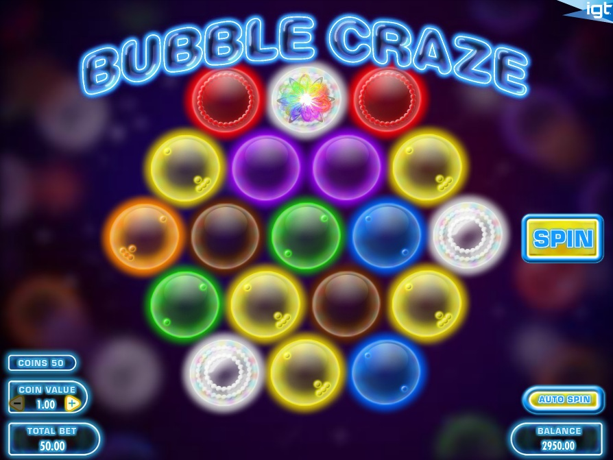 Слоты «Bubble Craze» и бонусы Вулкан за регистрацию