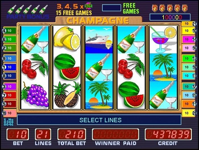 Риобет игровые автоматы «Champagne»