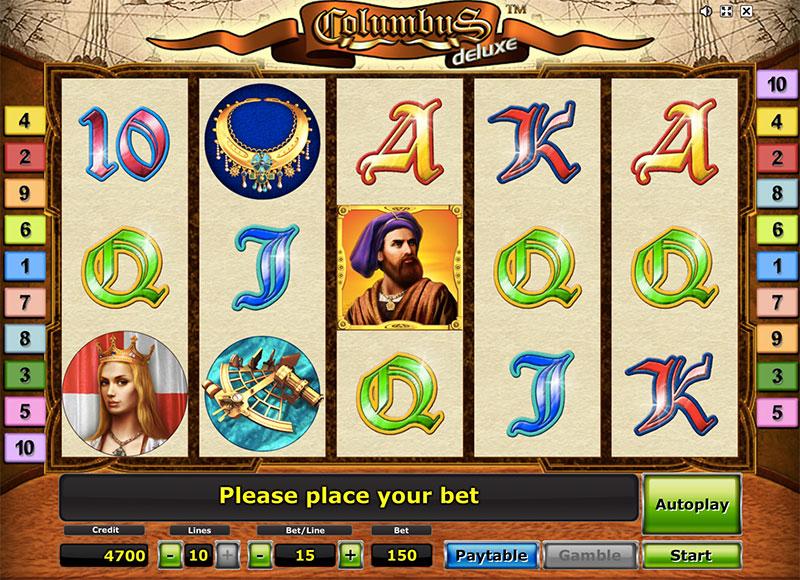 Приключенческие игровые автоматы «Columbus Deluxe» в казино Вулкан