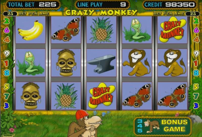 Легендарные слоты «Crazy Monkey» от казино Фараон