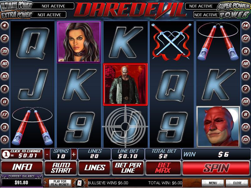 Вулкан казино игровые автоматы «Daredevil»