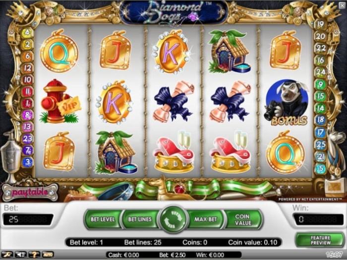 Бесплатные автоматы «Diamond Dogs» в онлайн казино1