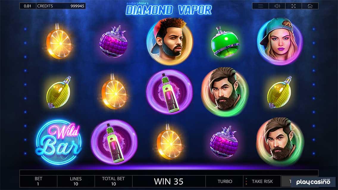 Слоты «Diamond Vapor» —  играйте в клубе Вулкан Платинум