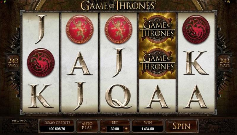 Слоты по мотивам кино «Game of Thrones» в казино Вулкан