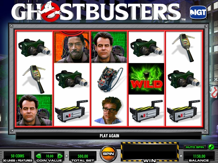 Игровые автоматы без депозита «Ghostbusters»