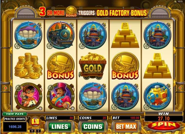 Игровые автоматы «Gold Factory» в казино Вулкан