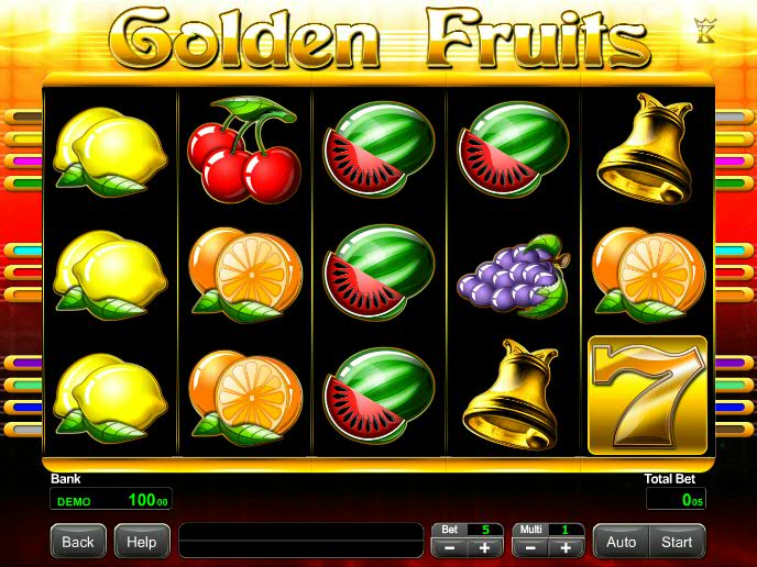 Слоты «Golden Fruits» на мобильной версии казино Вулкан Старс
