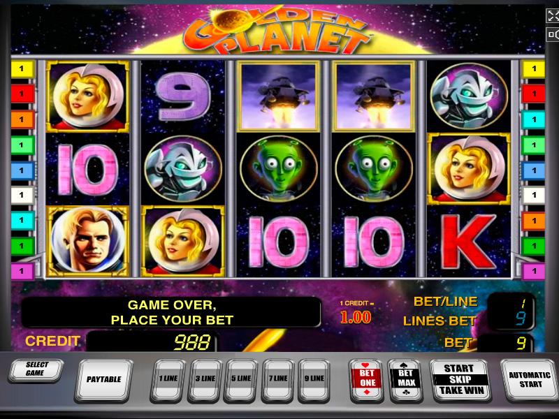 Игровые автоматы демо «Golden Planet» на сайте казино Вулкан