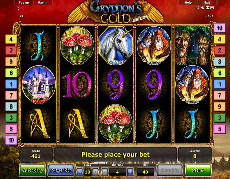 Игровые онлайн аппараты «Gryphon's Gold» в казино Икс